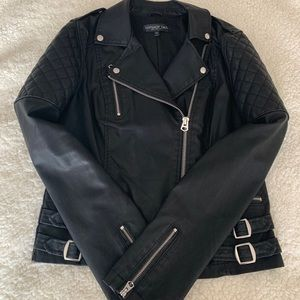 Topshop Tall Fake Leather Jacket